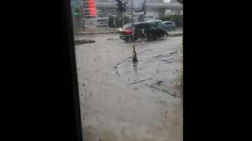 Буря във Варна отново предизвика задръствания (ВИДЕО)