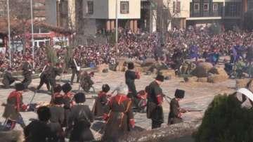 Възстановка на събитията от 3 март във Велики Преслав