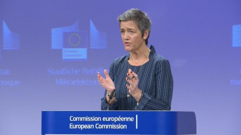 Еврокомисарят по конкуренцията Маргрете Вестагер коментира днес в Брюксел, че