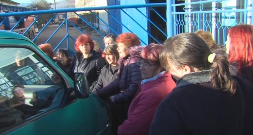 служители обувен цех ветрен протестират заради неизплатени заплати