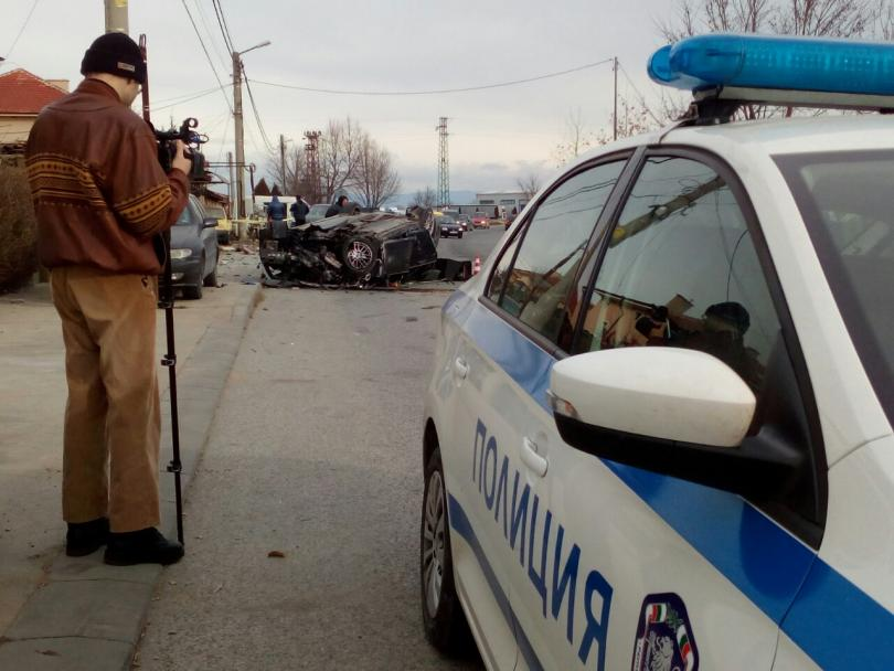 снимка 2 Два пътни инцидента от Пловдив тази сутрин (Снимки)