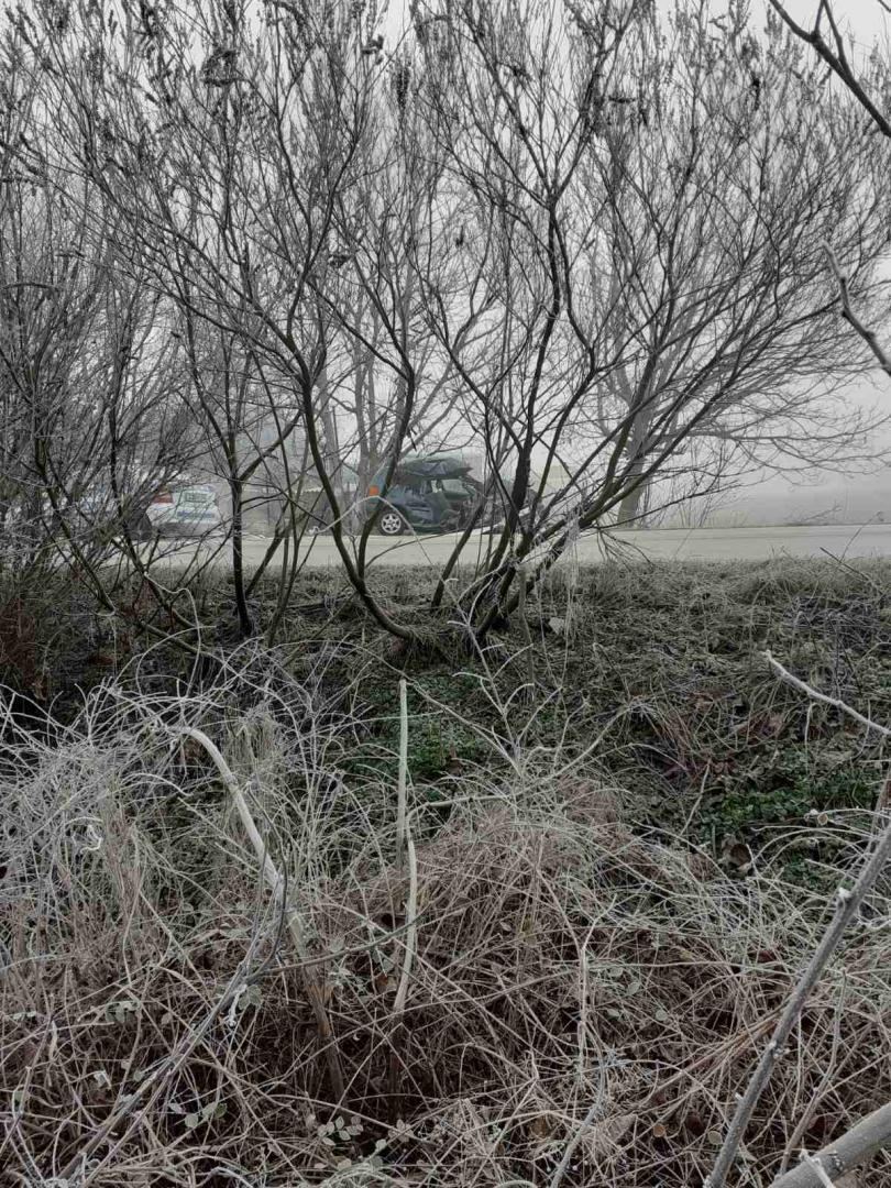 снимка 1 Жена загина при тежка катастрофа на пътя Русе-Силистра