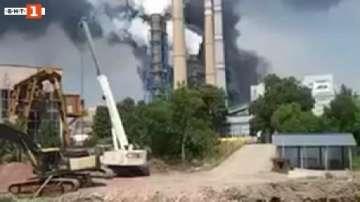 """Пожарът в ТЕЦ """"Марица-Изток"""" 2 е ограничен, няма опасност за хората"""