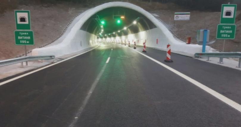 Инцидент в тунел ,,Витиня``. Кола с газова уредба се запали