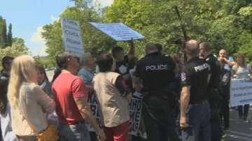 Жители на Владая протестират срещу некачествен ремонт и затруднен трафик на Е-79