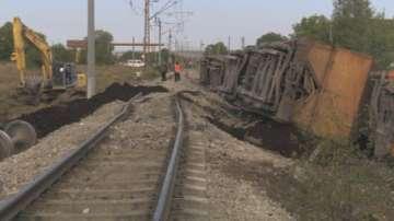 Дерайлирали товарни вагони между гарите Волуяк и Храбърско
