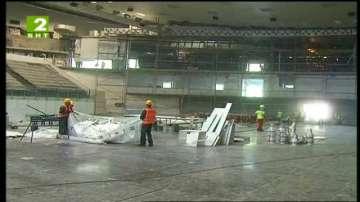 Завърши спешният ремонт на спортна зала
