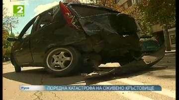 Поредна катастрофа на оживено кръстовище в Русе