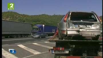 Верижна катастрофа в тунела край село Железница
