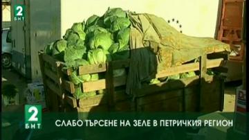 Слабо търсене на зеле в Петричкия регион