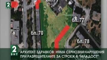 Арх. Здравков: Няма сериозни нарушения при разрешителните за строеж в Младост