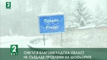 Снегът в област Благоевград не създаде проблеми
