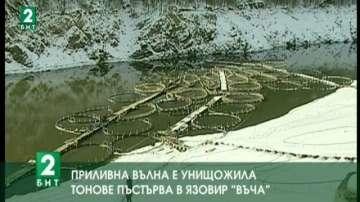"""Приливна вълна е унищожила пъстървовото стопанство в язовир """"Въча"""""""