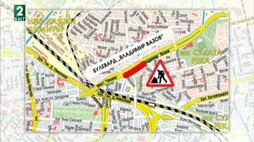 Затварят част от булевард Владимир Вазов заради строежа на метрото