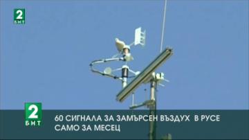 60 сигнала за замърсен въздух в Русе само за месец