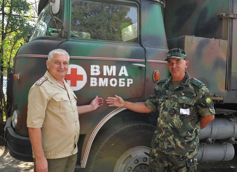 снимка 1 Екипи на ВМА тренираха за бедствие с много пострадали и заплаха от епидемия
