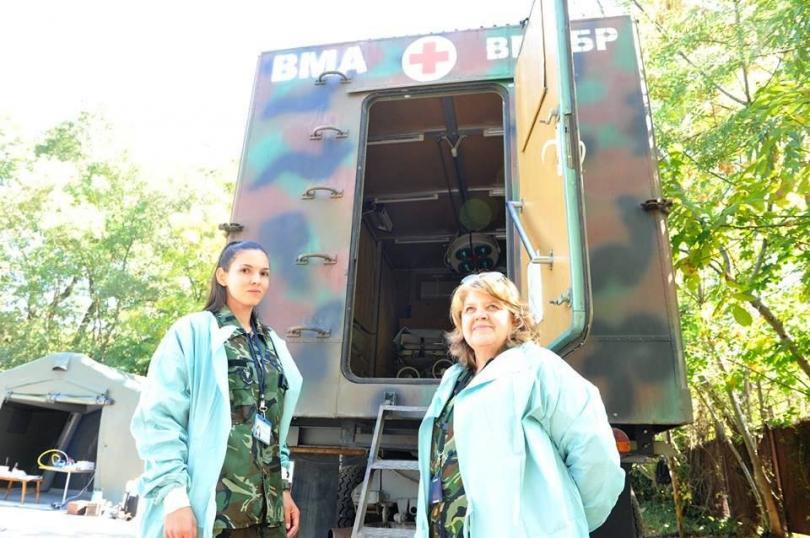 снимка 5 Екипи на ВМА тренираха за бедствие с много пострадали и заплаха от епидемия