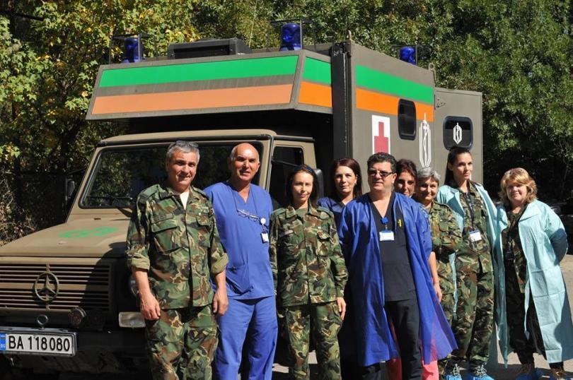 снимка 6 Екипи на ВМА тренираха за бедствие с много пострадали и заплаха от епидемия