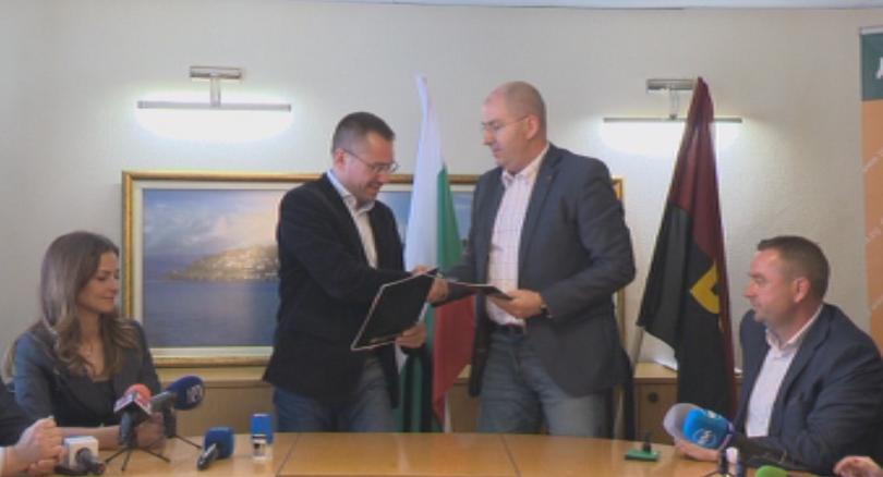 Снимка: ВМРО и Земеделският народен съюз подписаха споразумение за евроизборите