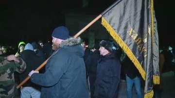 Пореден протест на жителите на Войводиново, където беше пребит военнослужещ