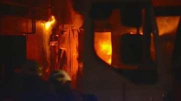 Завод за месо гори в с. Войводиново, пострадали хора няма
