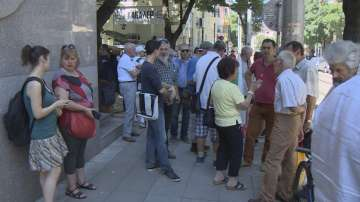 Граждани излязоха на протест пред сградата на Висшия съдебен съвет