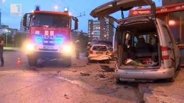 Пиян шофьор без книжка предизвика верижна катастрофа във Велико Търново (ВИДЕО)