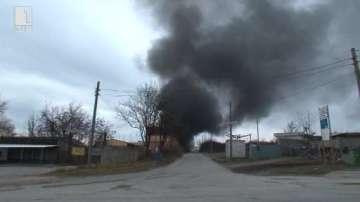Пожар в склад за строителни материали в Горна Оряховица, няма пострадали