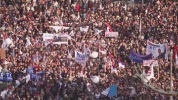 Според проправителствените медии над 100 хиляди подкрепиха Вучич в Белград