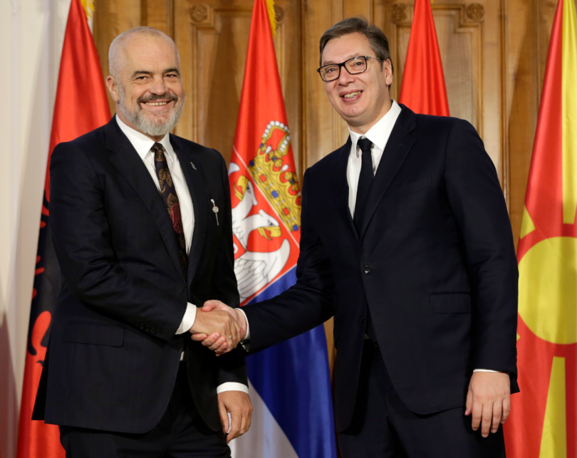 снимка 4 Започва тристранна среща Вучич – Рама – Заев в Нови Сад