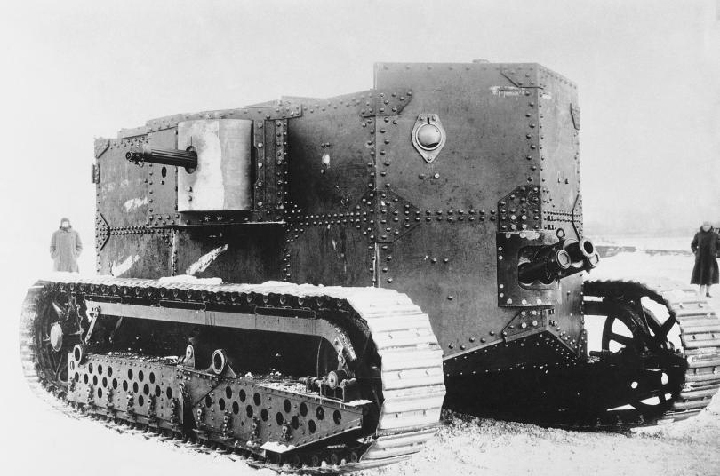 Танкът е едно от военните нововъведения в Първата световна война