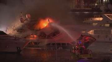 Пожар унищожи яхтата на певеца Марк Антъни
