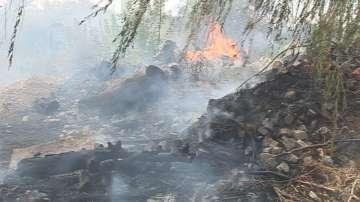 Голям пожар бушува край Ямбол, но вече е овладян
