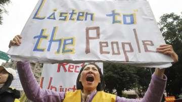 """Протести на """"Жълти жилетки"""" се проведоха и в Тайван"""