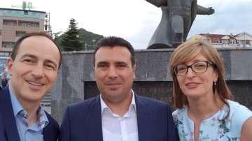 Продължава визитата на министър Захариева в Македония