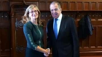 Екатерина Захариева се срещна със Сергей Лавров в Москва