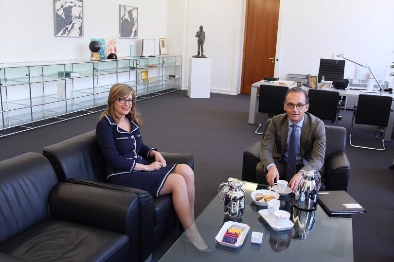 външният министър германия хайко маас пристига посещение нас