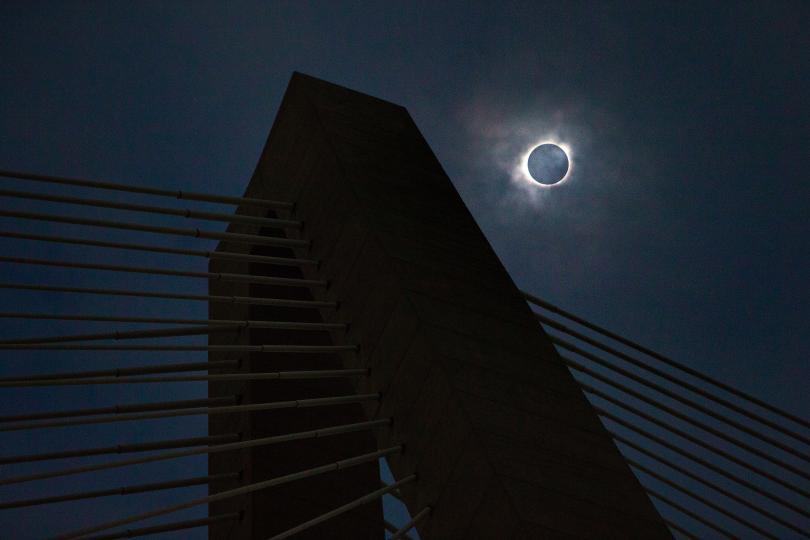снимка 3 Пълното слънчево затъмнение (СНИМКИ)
