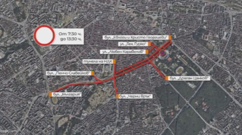 снимка 1 Затварят улици в София заради щафетен маратон