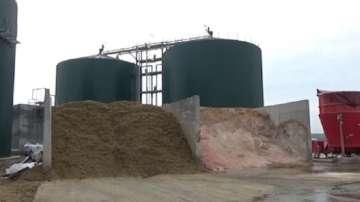 Протест на жители от село Труд срещу завод за преработка на биомаса