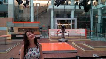В студиото на ZDF в Берлин