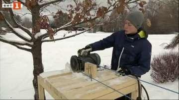 Зелена светлина: Импровизирана ски-писта в Швеция
