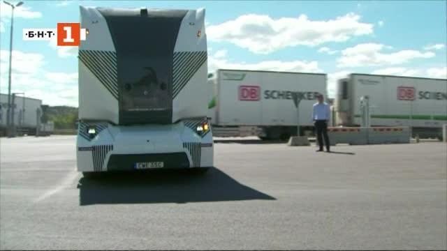 Снимка: Зелена светлина: Автономен камион без шофьор в кабината