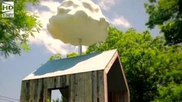 Зелена светлина: Изкуствен облак в градината