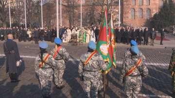Осветиха бойните знамена на българската армия в София