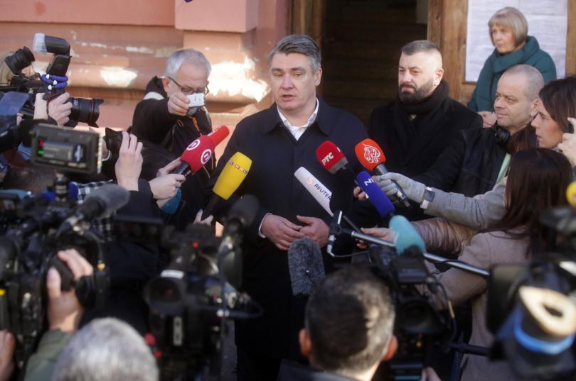 Първи официални резултати от балотажа за президент на Хърватия. Бившият