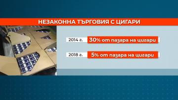 За последните пет години контрабандата на цигари у нас е намаляла с 25%