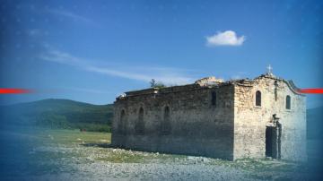 Литургия в изплуващата църква в Жребчево